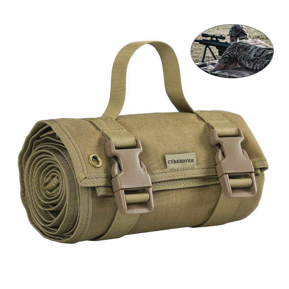 Khaki CyberDyer Shooting Mat Tactical Advanced Roll Up Shooter's Mat  Molle System NonPadded NonSlip Durable Mat, 80 (L) x 30 (W)
