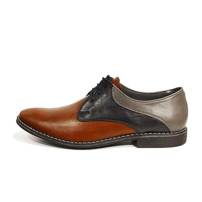 Modello Valerio - 43 EU - Cuero Italiano Hecho A Mano Hombre Piel Marrón Zapatos Vestir Oxfords - Cuero Cuero Suave - Encaje cLefPdn