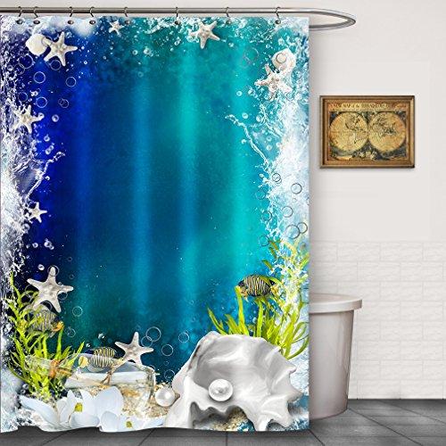 Ocean Submarine World Fabric Shower Curtain by FOOG Starfish