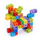 Enllonish Unlimited Creation Cubes 100 Piece Snap Cubes Mathlinks Cubes Unit Cubes Centimeter Cubes Math and Interlocking Building Set - Kids Safe Material!