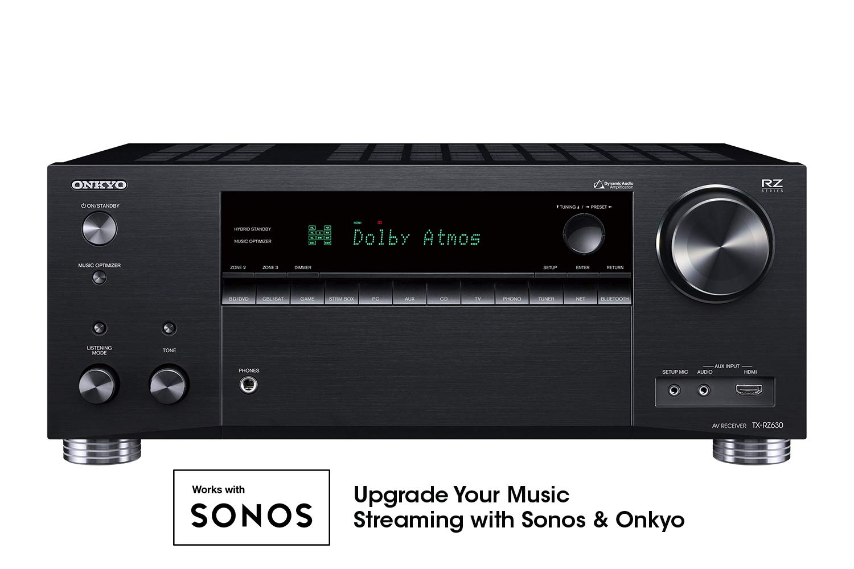 Onkyo TX-RZ630 9.2 Channel 4K Network A/V Receiver Black