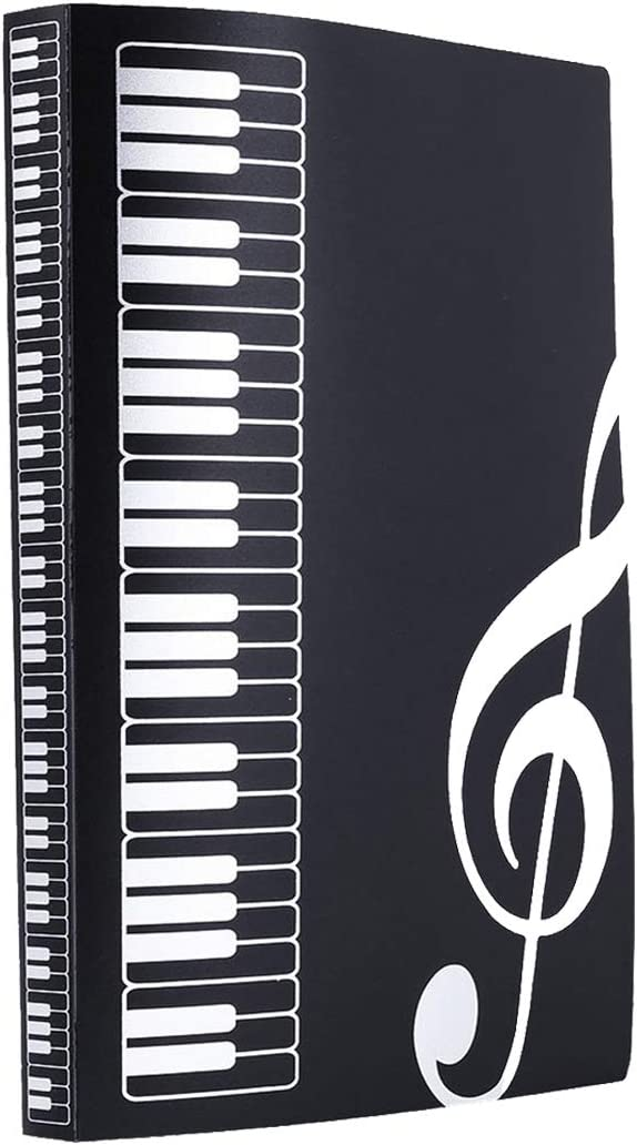 carpeta con folios A4 diseno musical