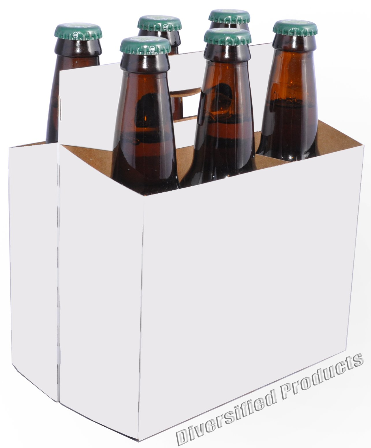 White Six Pack Beer Boxes - Case of 160 by Diversified (Image #1)