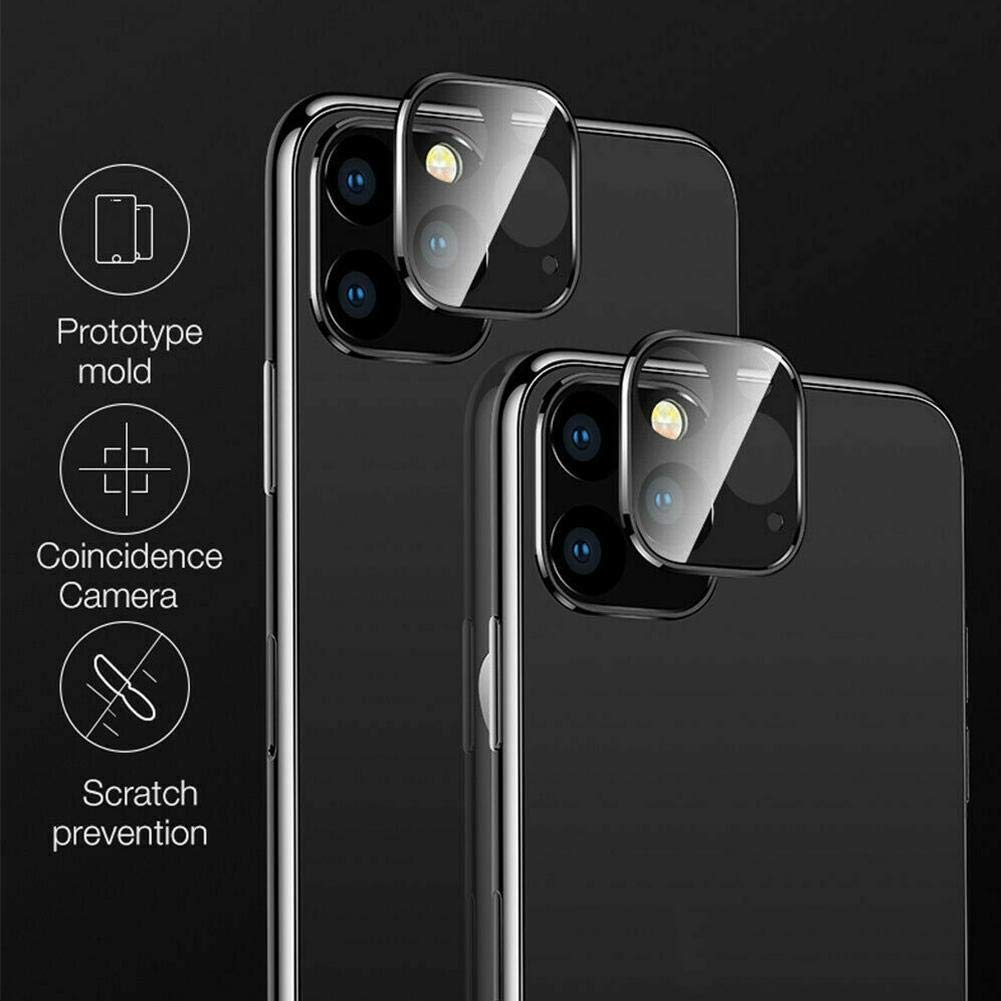 c/ámara Ultra Delgada HD Templado 9H Pel/ícula de Protector de Lente de c/ámara de Vidrio antiara/ñazos Sinye Compatible con iPhone 11 Pro MAX Protector de Lente de c/ámara