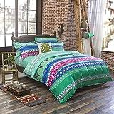 yazi クラシック ベッド ランナー コットン ベッドスプレッド スカーフ 自宅 ホテル 寮 宿 装飾