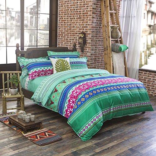 寝具布団カバーセット クラシック 4点 ボヘミアンエキゾチックスタイル フルサイズパターン1 フル B01MF98PVI Pattern7 Pattern7