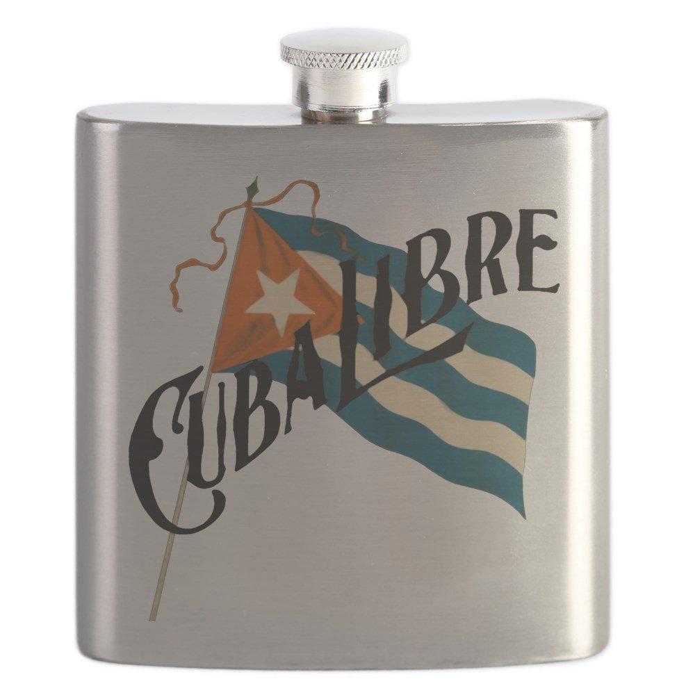 【内祝い】 CafePress Cuba – Libre Cuba Libre – ステンレススチールフラスコ、6オンス酒フラスコ B01IUF9IKE B01IUF9IKE, リョウナンチョウ:160930dc --- vrpawar.in