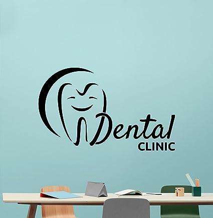 Dental Clinic Wall Decal Stomatology Dentist Tooth Dental Care Logo Emblem  Teeth Hospital Medicine Vinyl Sticker