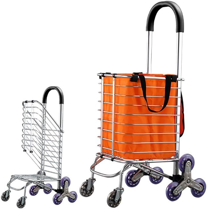 Carrito de la compra Carrito pequeño, carro familiar Trolley plegable Carro conveniente. Subiendo las escaleras sin inclinarse para escalar El edificio ahorra más mano de obra (Color : 1): Amazon.es: Equipaje