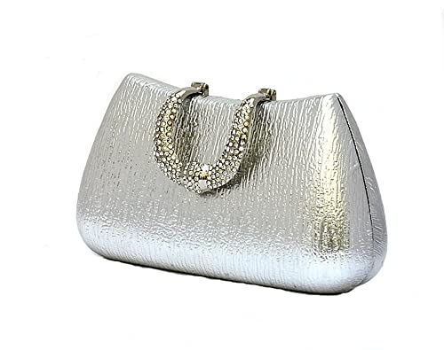 Pulama Womens duro mango de embrague para boda y Party purpurina bolso de mano con strass cierre: Amazon.es: Zapatos y complementos