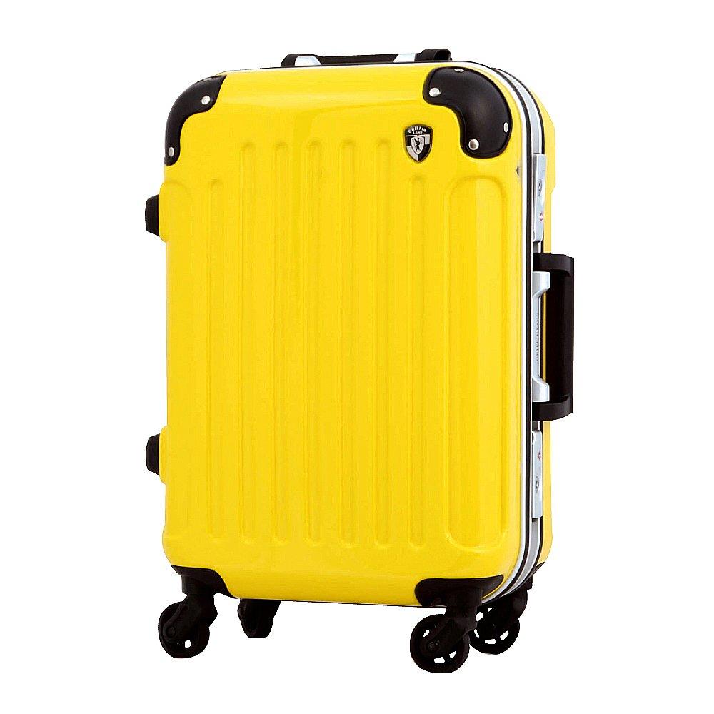 [グリフィンランド]_Griffinland TSAロック搭載 機内持ち込み可 スーツケース キャリーケース スマホスタンド付き PC7000-MINI フレーム開閉式 B01G9M7ARS MINI|レモンイエロー レモンイエロー MINI