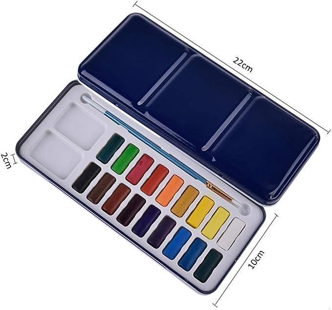 Juego de pinturas de acuarela para principiantes, caja de hierro ...