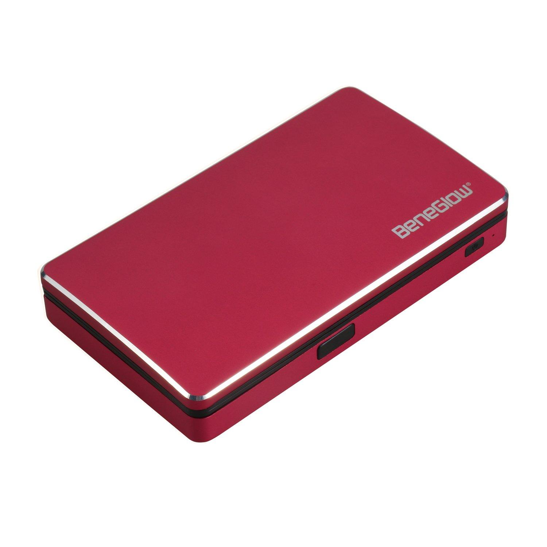 Portafogli per carte, Greshare Bluetooth Antifurto antifurto intelligente Bluetooth RFID sicuro Portafoglio completo in alluminio con fino a 10 carte bancarie (Black)