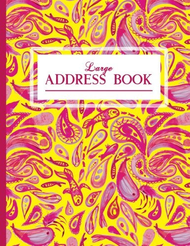 Large Address Book: Office/Desk, 8.5 x 11, Pink And ()
