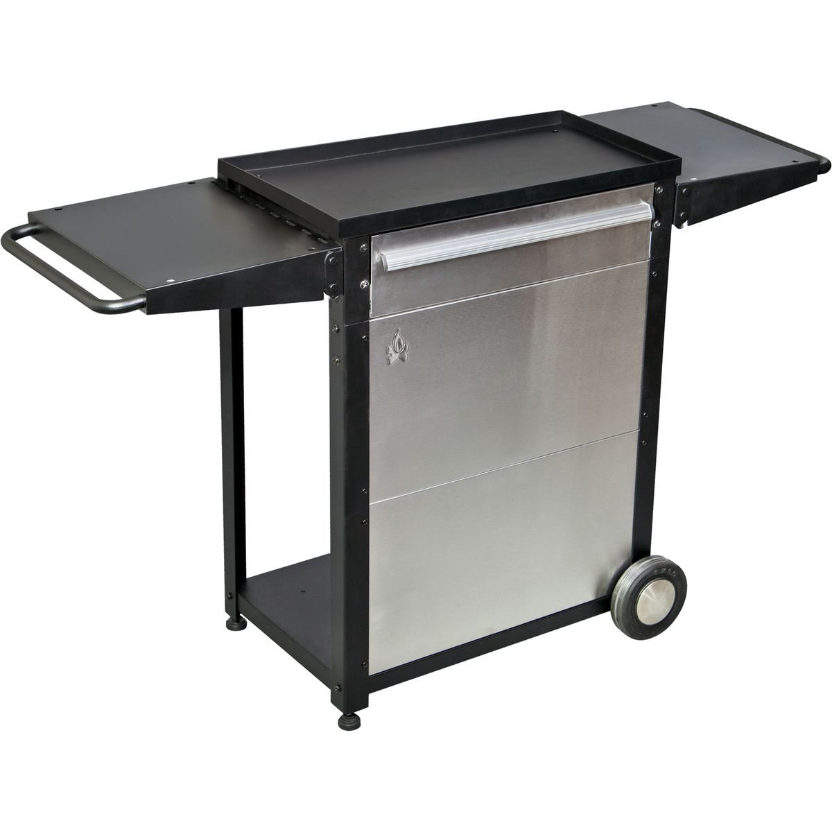 Camp Chef Patio Cart, BLACK/SILVER, by CAMP CHEF