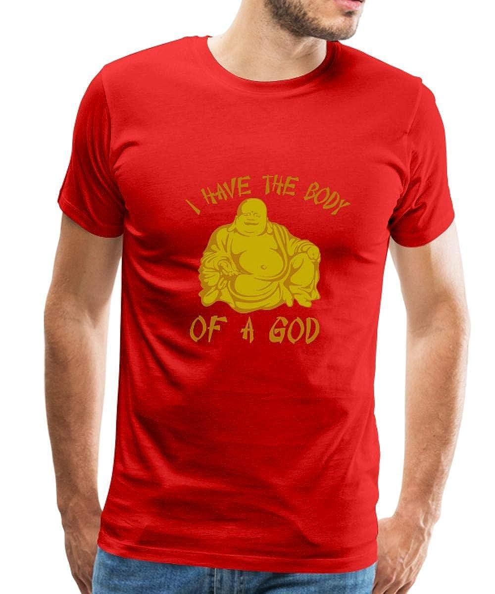 eb2515fe2 Amazon.com: Spreadshirt Buddha Body of A God Men's Premium T-Shirt: Clothing
