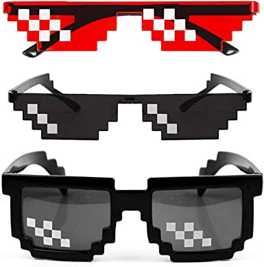 Glasses Unisex Thug Life Deal with It Cool Pixel Sunglasses