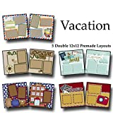 VACATION Scrapbook Set - 5 Double Page Layouts