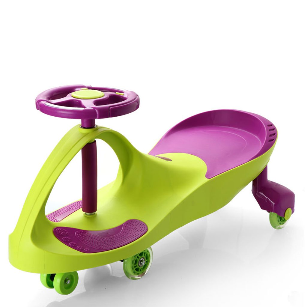 Kinder Twist Auto Spielzeug Schaukel Auto Baby Slide Yo Auto mit Musik Stumm Flash Rad Alter 3 Jahre alt oder älter 81  30.5  41.5cm (Farbe   Orange) Grün