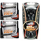 Dorco Pace 6- Six Blade Razor Blade System - Value Pack (10 Pack + 1 Handle) …