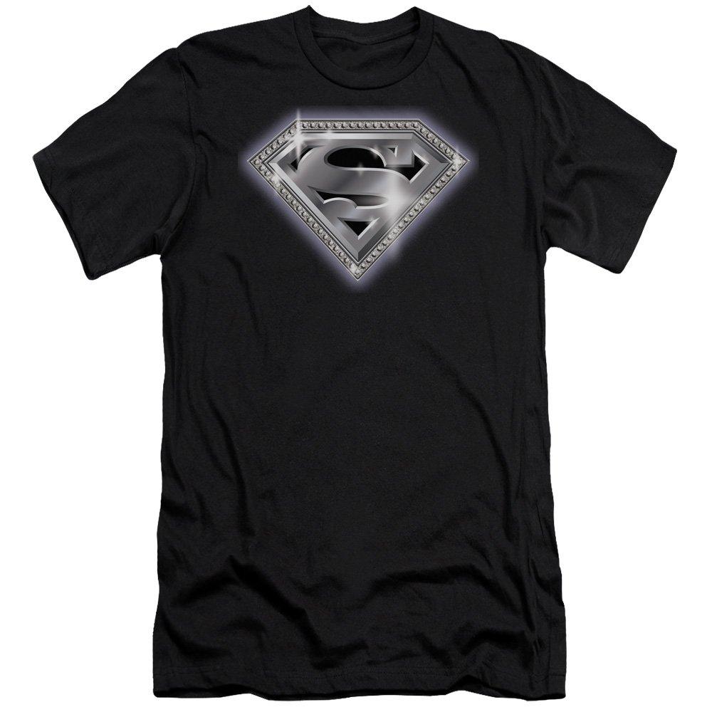 Superman Bling Shield Premium Adult Slim Fit T-Shirt