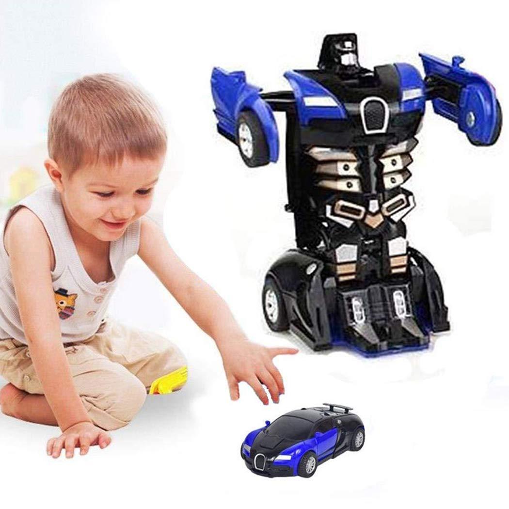 Cartoon Crash Deformation Transforming Robot Car Toy Kids Game Gift Electrical Safety (2pcs, Yellow&Blue) by Viedoct (Image #6)