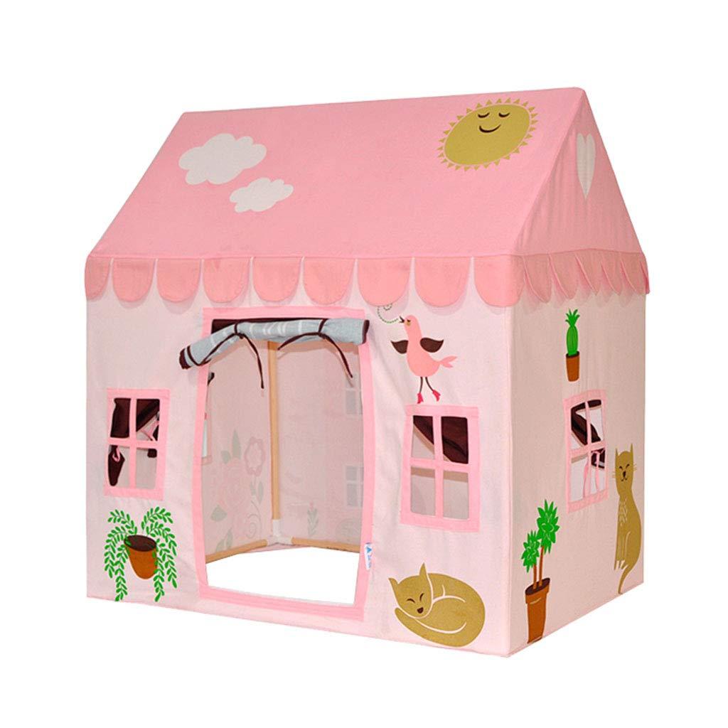 キッズテント 子供のテント男の子と女の子が家を遊ぶ 屋内ゲームポップアップテント読書コーナー ホームリビングルーム子供の城のおもちゃの家 マットを送る 子供のギフトを送る キッズテント (Color : Pink, Size : 110*80*115cm) B07MXPNNFB Pink 110*80*115cm