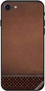 حافظة لهاتف آيفون 7 - نمط جلد بني غامق