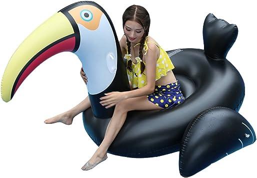 Gigante Cisne Negro Flotador Inflable Anillo de natación Piscina ...