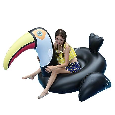 AJOG 70 Pulgadas Gigante Negro Gold Swan Swan Swim Ring Piscina Flotador Juguete Ocioso De Playa