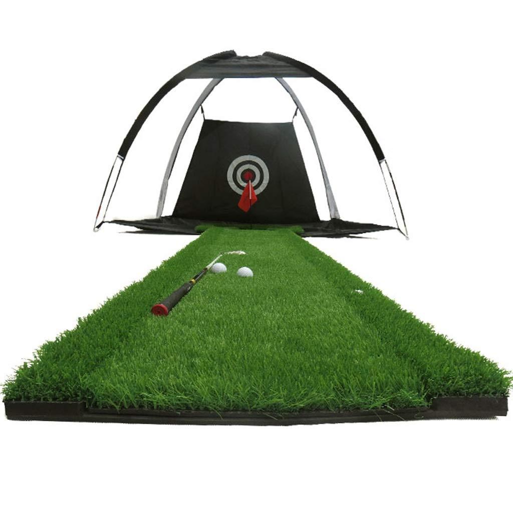 IAIZI ゴルフマットプッシャーカッターパタートレーナーグリーン練習とゴルフチッピングネット屋外練習ネット、ポータブルトレーニング打撃ネット   B07L7N6W54