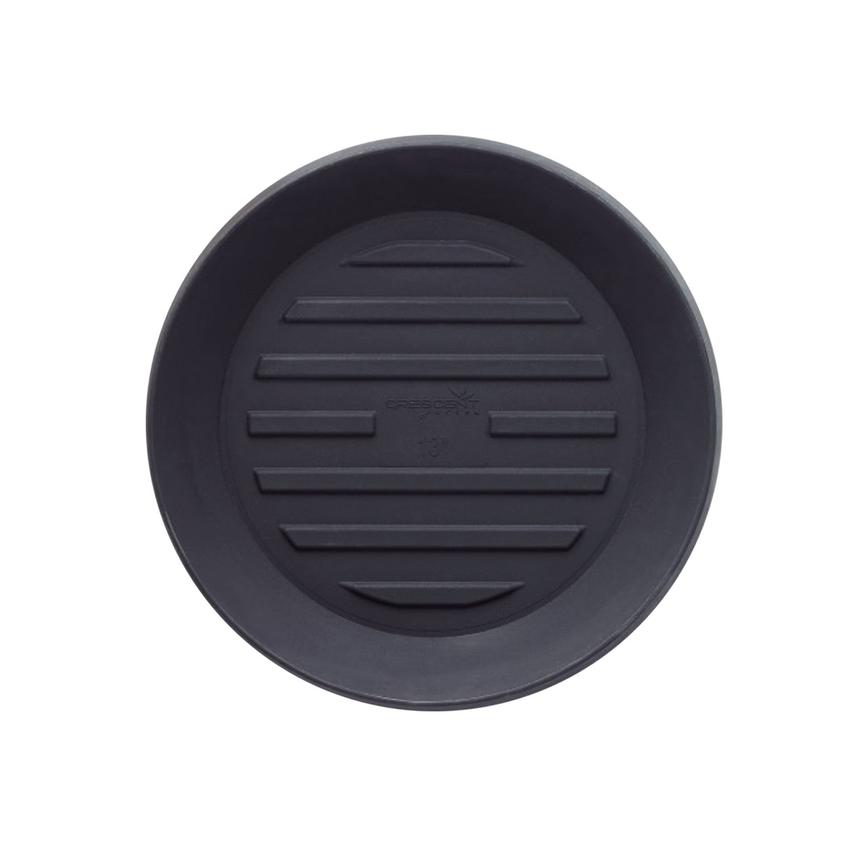 Crescent Garden A991094T Round Universal Saucer, 10'', Caviar Black