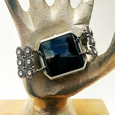Fitbit Blaze Premier Bracelet, Fitbling, Fitbit Accessory, Fitbit Jewelry, Wearable Tech Jewelry, Stretch Bracelet, Fitbit Attachment