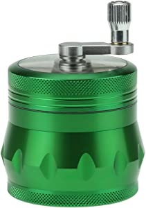 DCOU Jar Style Manual Hand Cranked Premium Aluminum Spice Kitchen Grinder 2.2 Inches 4 Piece (Green)
