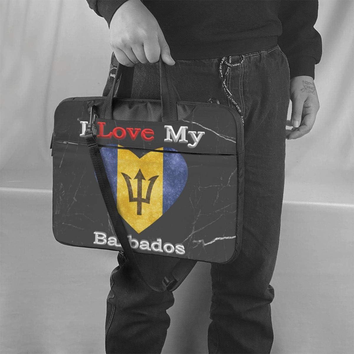I Love My Flag of North Carolina Heart Laptop Bag One Shoulder Shockproof Laptop Bag