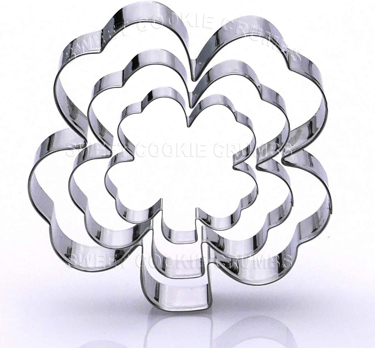 Clover Cookie Cutter Set, 3 Piece, Stainless Steel