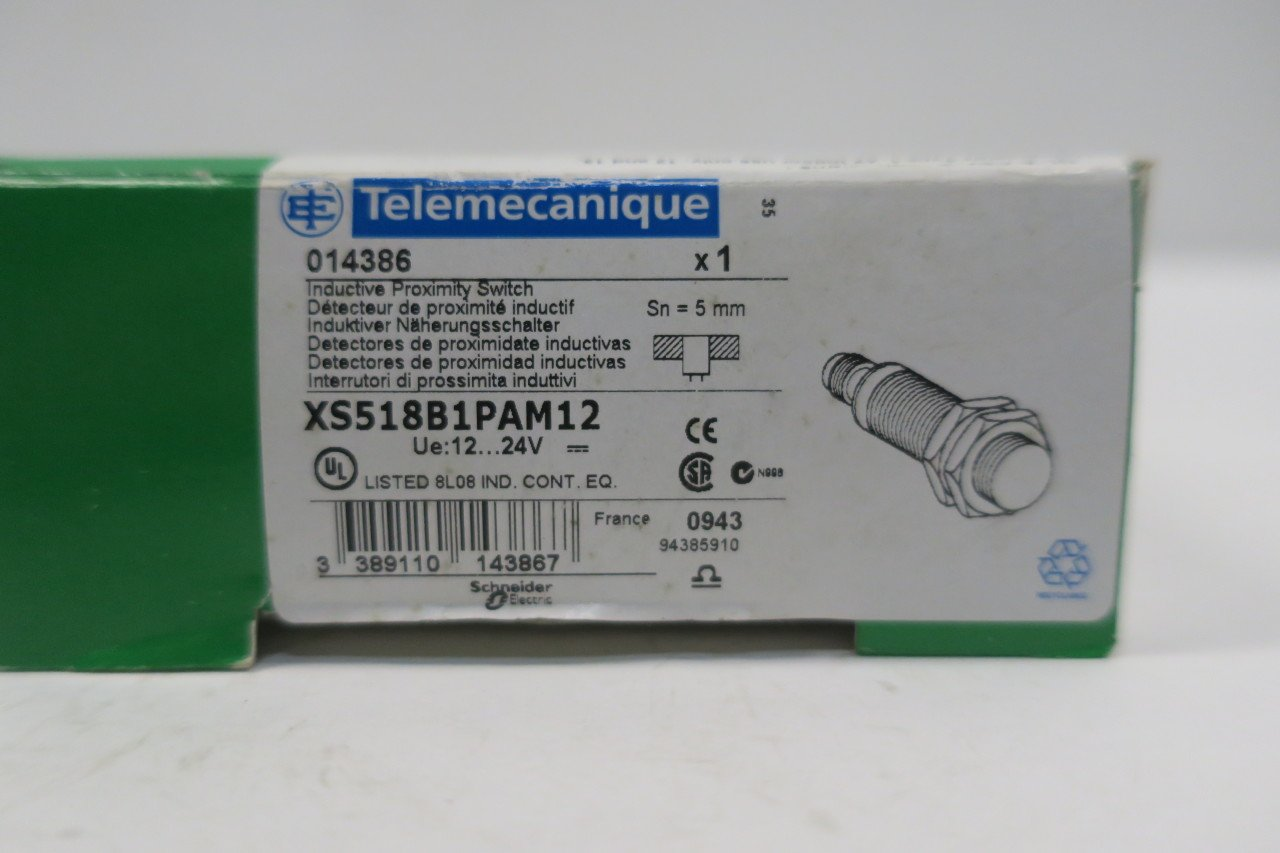 TELEMECANIQUE 014386 XS518B1PAM12 INDUCTIVE Proximity Switch 200MA D587266: Amazon.com: Industrial & Scientific