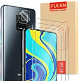 [5-Pack] PULEN for Xiaomi Redmi Note 9S/Redmi Note 9 Pro Screen Protector (3-Packs)+2 Packs Camera Lens Protector,HD…
