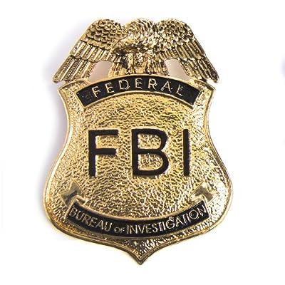 HMS Men's Fbi Badge - Pin Back