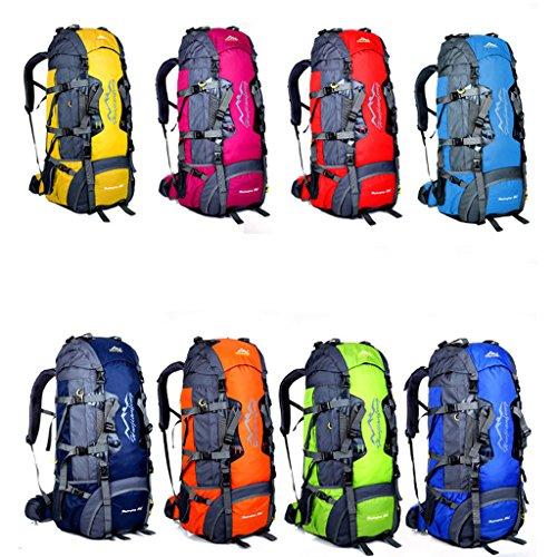Großvolumige im Freien Rucksack Tasche Klettersystem mit Außenreit Rucksack Umhängetasche Reisetasche tragen rosarot
