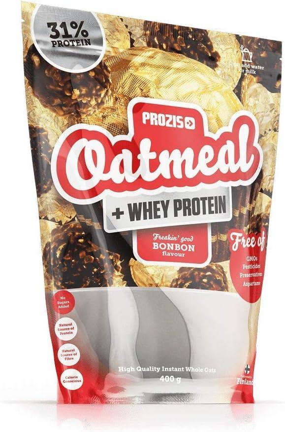 Prozis Oatmeal y Proteína de leche, Bombón - 400 gr