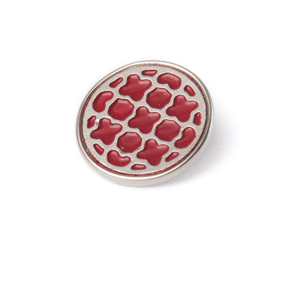 Noosa Chunk 041 Arabesque silver/ red-silver plated brass