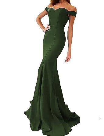 GMAR Deep V Neck Off Shoulder Evening Dresses Mermaid Long Prom Formal Gowns