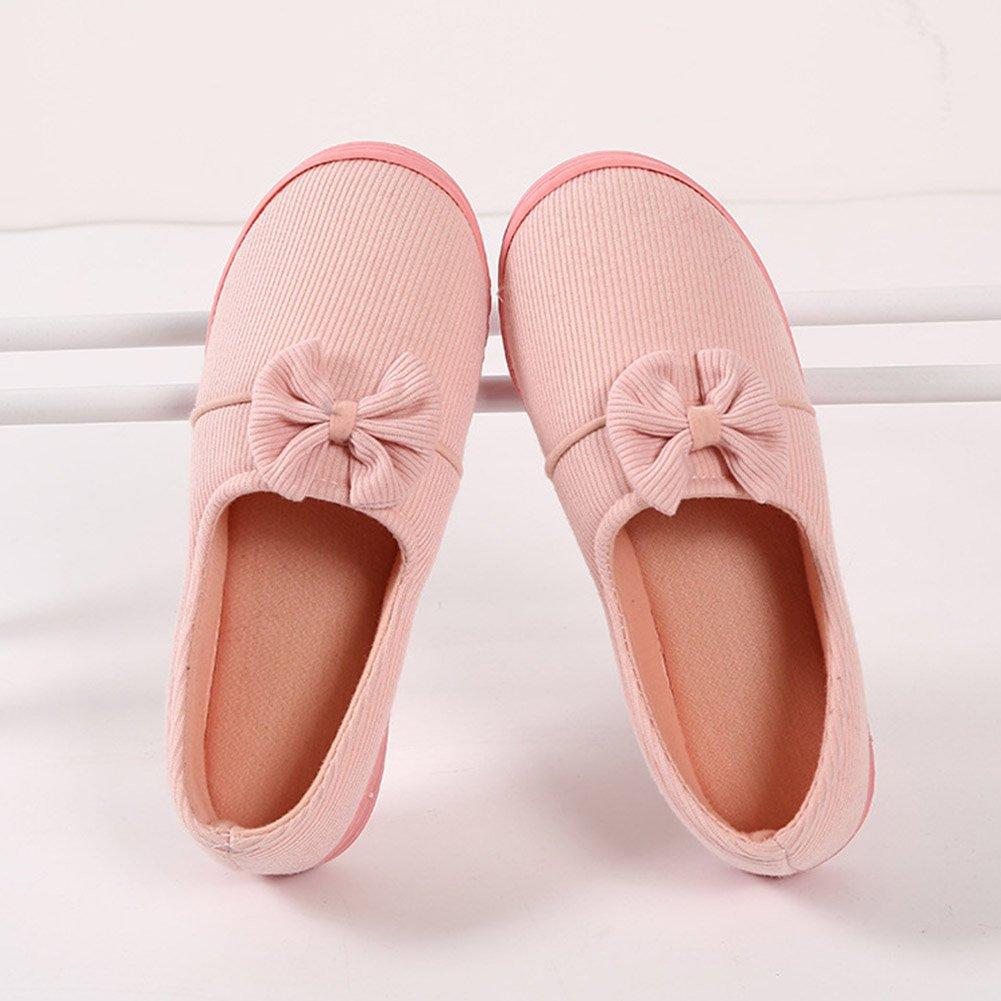 Amazon.com: Buyitnow Mujer Zapatillas Lazo cálido cachemir ...