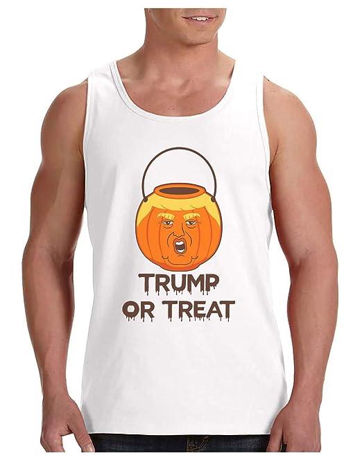 Camiseta de Tirantes Hombre - Trump or Treat - Trump Calabaza Divertida para Halloween: Amazon.es: Ropa y accesorios