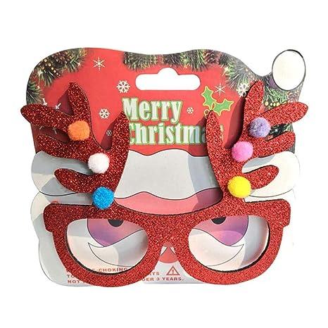 Coseyil Navidad Gafas Estructura Decoración navideña Novedad ...