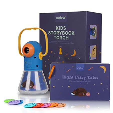 Multifuncional Story Proyection Torch, Kids Sleep Stories ...