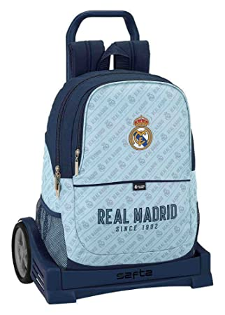 Safta Mochila Espalda Ergonómica Real Madrid Corporativa Con Carro Safta Evolution: Amazon.es: Equipaje