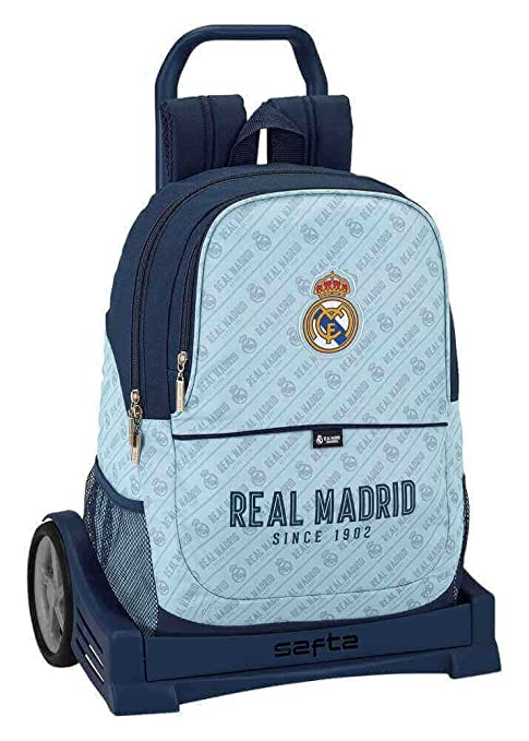 Safta Mochila Espalda Ergonómica Real Madrid Corporativa Con Carro Safta Evolution