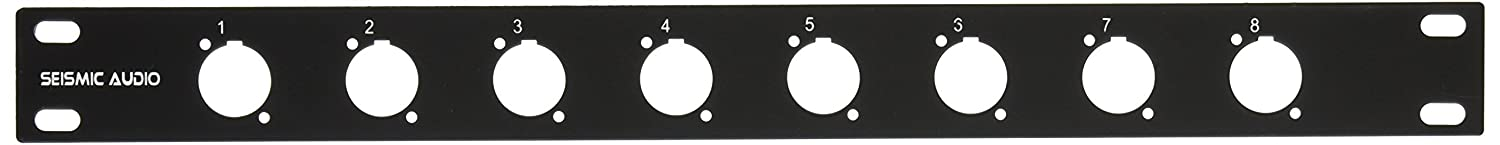 Seismic Audio - 8 Channel Rack Case Panel Mount 1 RU Space Unit Seismic Audio Speakers Inc. SARPBL8